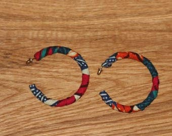 Hoop earrings, earrings, African fabric, African earrings, Ankara, Ankara earrings