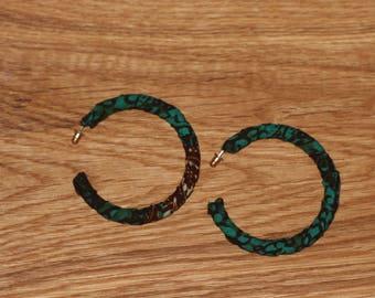 Hoop earrings, earrings, African fabric, African earrings, ankara, ankara earrings