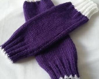 Hand knitted hand warmers, fingerless gloves, knitted gloves