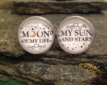 Moon of my Life, My sun and stars cufflinks, Game of Thrones Cufflinks, Game of Thrones Tie Clips, Tie Bars, Cuff Links