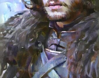 Game of Thrones Art, Jon Snow Art, Jon Snow Poster, Jon Snow Artwork, Jon Snow Wall Decor, Game of thrones Poster