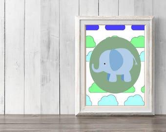 Nursery Wall Art, Nursery Posters, Nursery Prints, Elephant Nursery Poster, Elephant Prints, Nursery Decor, Nursery Art Prints, Elephant Art