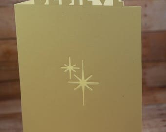 Believe Laser Card,  Laser Cut Card, Believe card, Thank you  card, laser cards, Birthday cards