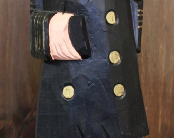 """18""""H Wooden Admiral Figurine"""
