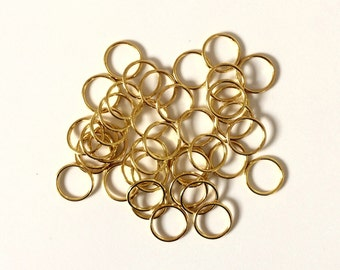 "10mm (3/8"") Gold Metal Rings for Bra Strap Camisole Lingerie Making"