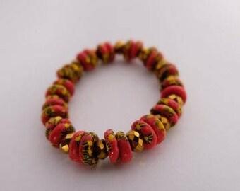 Beautiful African Handmade Beaded Bracelet