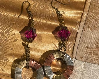 Circular Wire Wrapped Earrings
