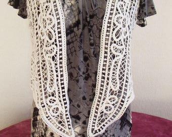 Nice vintage crochet lace vest