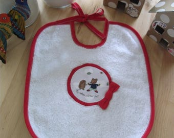Fabric and Terry baby bib