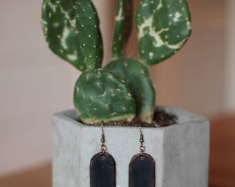 Talulah Navy Earrings | Leather Earrings | Birthday Gift | Anniversary | Gifts under 25 | Handmade | Gifts for Her