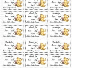 Winnie the Pooh - Favor Tags - Custom