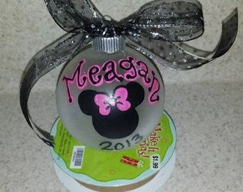 Minnie Mouse personalized ornament