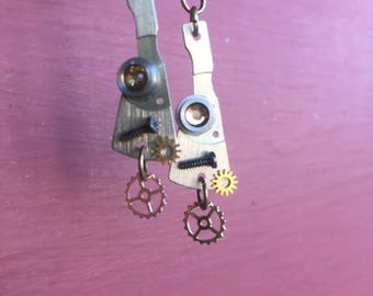 Steampunk Watch Parts Earrings