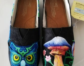 EDC Hand Painted TOMS (Electric Daisy Carnival)
