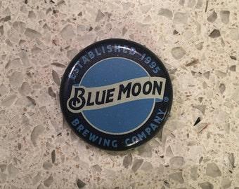 Blue Moon Bottle Cap Magnet