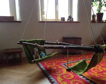 Karusellschaukel, Boat swing, wild toys, Waldorf toys