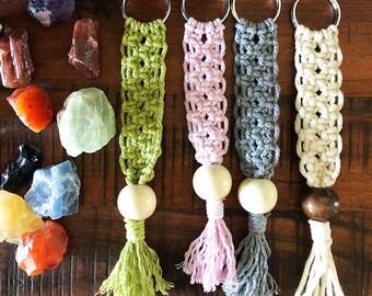 Macrame Keychain, Purse Charm, Boho Keychain, Modern Macrame, Mini Macrame Accessories, Handmade Keychains, Bag Charm