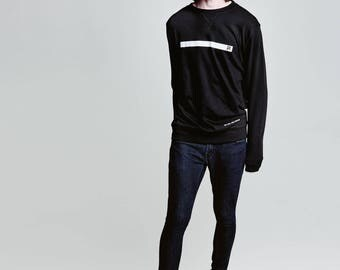 Pilabrand Black sweater with line (msbwl)