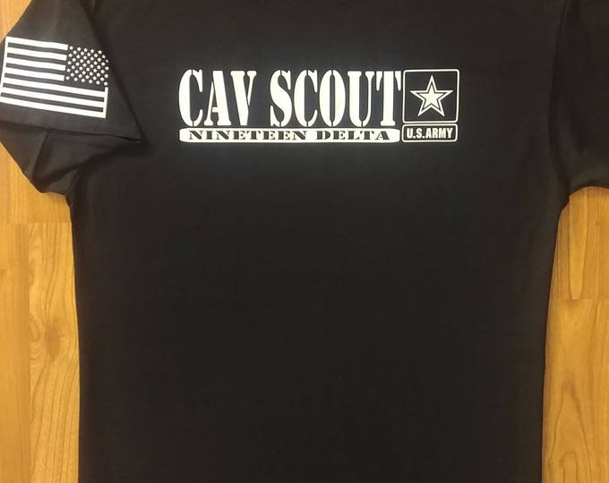 Army - Cav Scout - 19 Delta - Large Shirt - Free Shipping