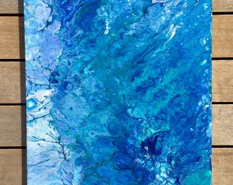 Fluid Acrylic Painting on Canvas: Genesis