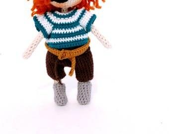 Amigurumi doll,Crochet doll,handmade doll,rag doll, pocket doll, crochet boy doll , boy amigurumi ,pirate doll ,marine doll,seaman doll