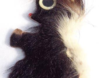 Vintage Homemade Skunk pin