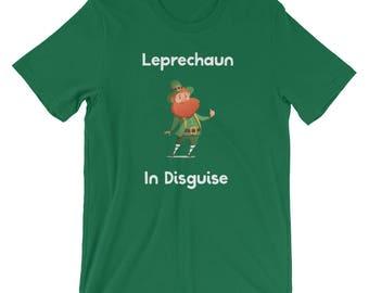 Funny St Patricks Day Drinking Shirt Leprechaun In Disguise Irish Drinking T-shirt
