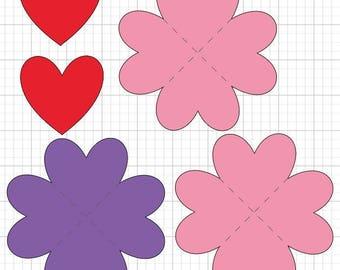 Foldable Heart book svg digital design