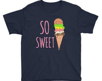 ice cream cones,ice cream print shirt, ice cream shirt, ice cream tshirt, cool school shirt, funny shirt, funny kid shirt, Youth Short Sleev