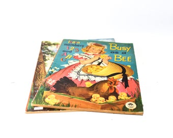 Busy as a Bee & Frontiersmen Vintage Coloring Books