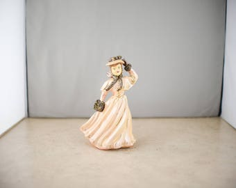 Rokay Figurines - Pink and Gold Dress Woman