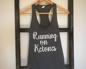 Running on Ketones Women's Graphic Tank