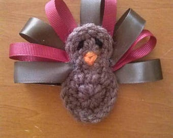 Crochet Turkey Hair Clip