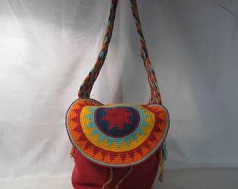 HANDMADE Multi-Colored Colombian Mochila Shoulder Bag