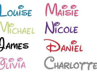 Personalised -  Name Stickers – Childrens Stickers – Vinyl Stickers – Kids Name Sticker – Water Bottle Sticker - Disney Stickers