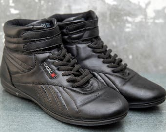 Crube Vintage  Black Booxing Sneakers ankle boots.