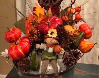 Fun Pumpkins and Apples Arrangement