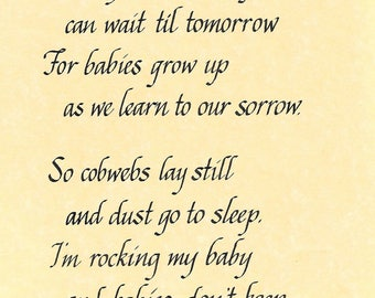 Babies Don't Keep poem