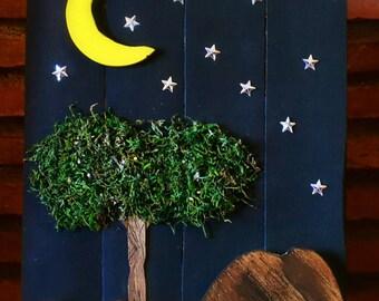 Tree and Moon Box
