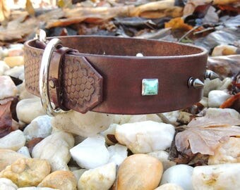 Handmade Leather Dog Collar