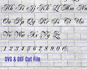 Wedding Font, Script Font svg cut file, Fancy, Silhouette File, Cut File, SVG, DXF, Alphabet, DIY, Calligraphy, Cricut, Digital download