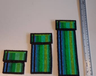 Pipes made of hama beads