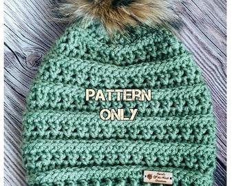 Crochet Hat Pattern, Crochet Beanie Pattern, Crochet Slouchy Hat Pattern, Slouch Hat Pattern, Crochet  Beanie Pattern, Crochet Slouch Hat