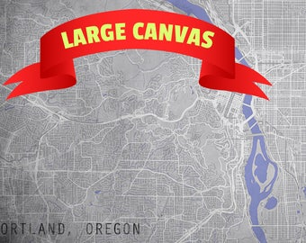 PORTLAND Oregon CANVAS Map City Map Portland Oregon Art Print Portland Oregon Portland Oregon Poster OR poster retro old gift home decor