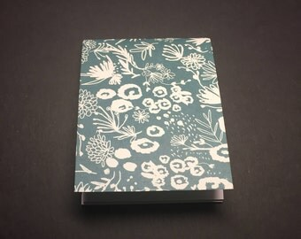 Green Flower Mini Notebook - Small Green Notebook - Small Notepad
