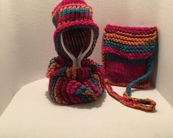 Infinity Scarf, hat, and purse