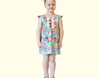 Blue Tea Rose Dress