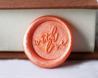 With Love wax seal stamp kit, fruit seal, wedding envelope seal,party wax seal stamp set,heart infinity wax stamp