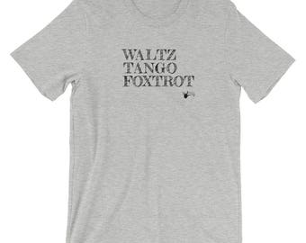 WTF Waltz Tango Foxtrot Ballroom Dance Short-Sleeve T-Shirt | Gifts for him | Swing Swag Dance Gifts