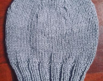 Knitted Grey Winter Hat